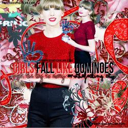 +Blend 'Girls Fall Like Dominoes'