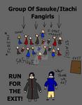 Itachi-Sasuke And The Fangirls
