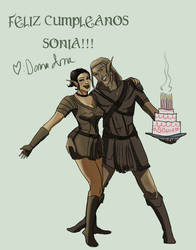 Happy Birthday Sonia by victricia