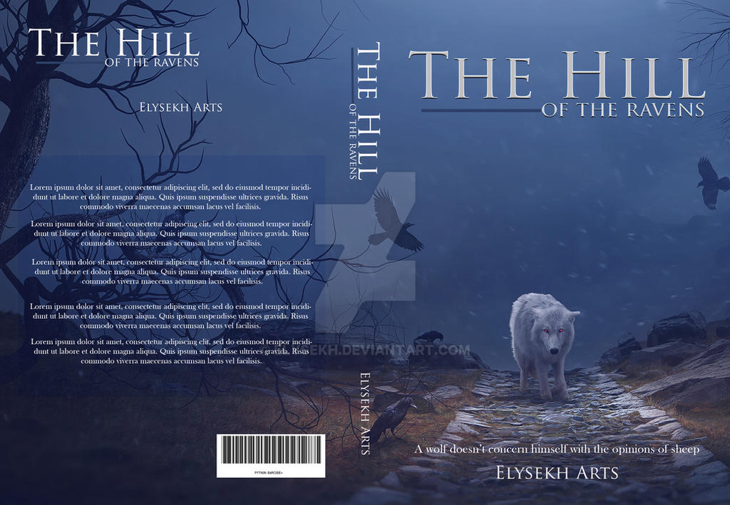 The hill of the ravens | Premade book cover