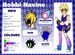Bobbi Navine reference sheet by GalaxyRakki