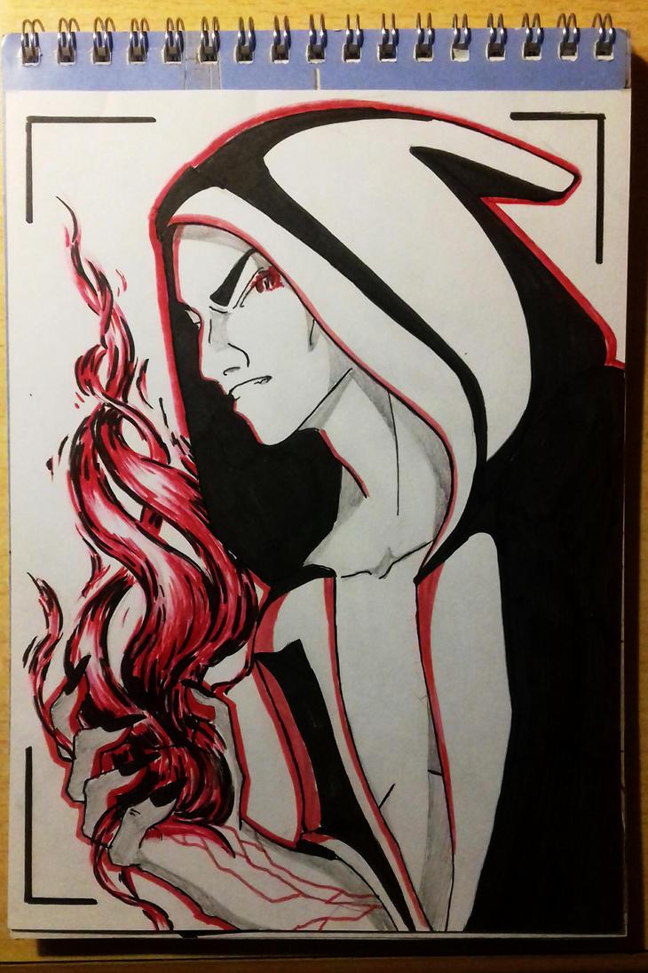 Scarlet Smoke (test) by Pauline-Shatalova