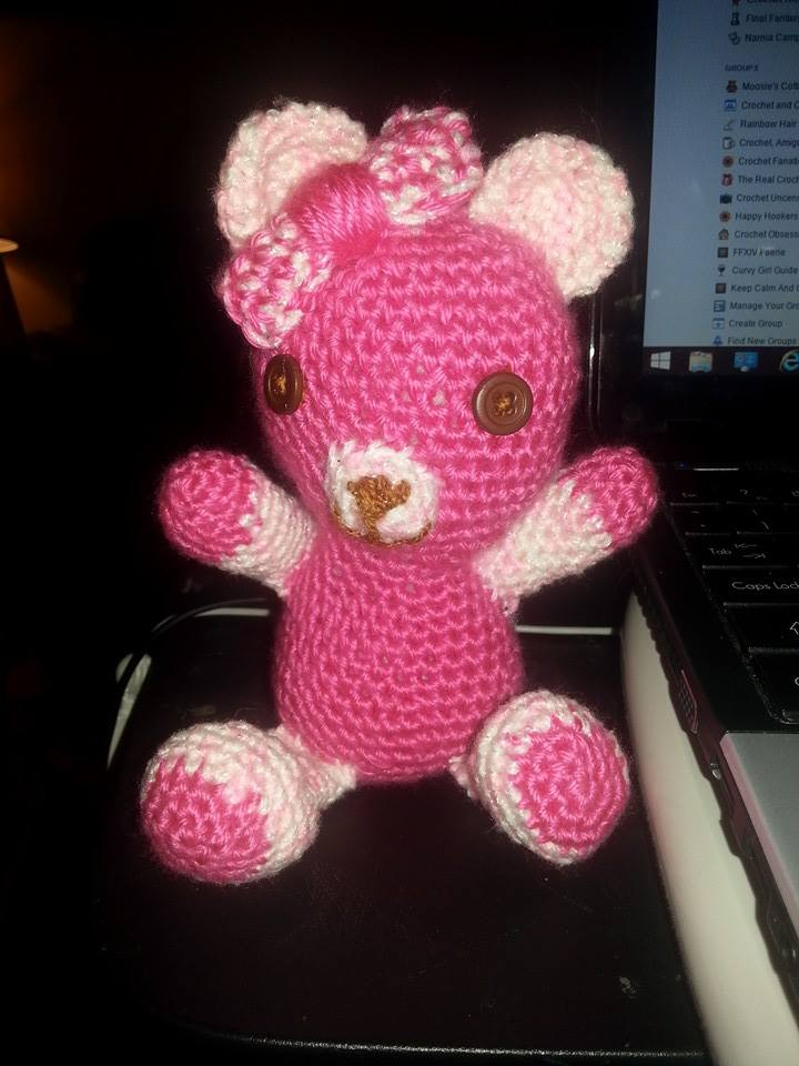 Qwuaaazi the Amigurumi bear, (not my pattern) by Ahriannah