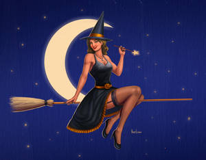 Pinup witch