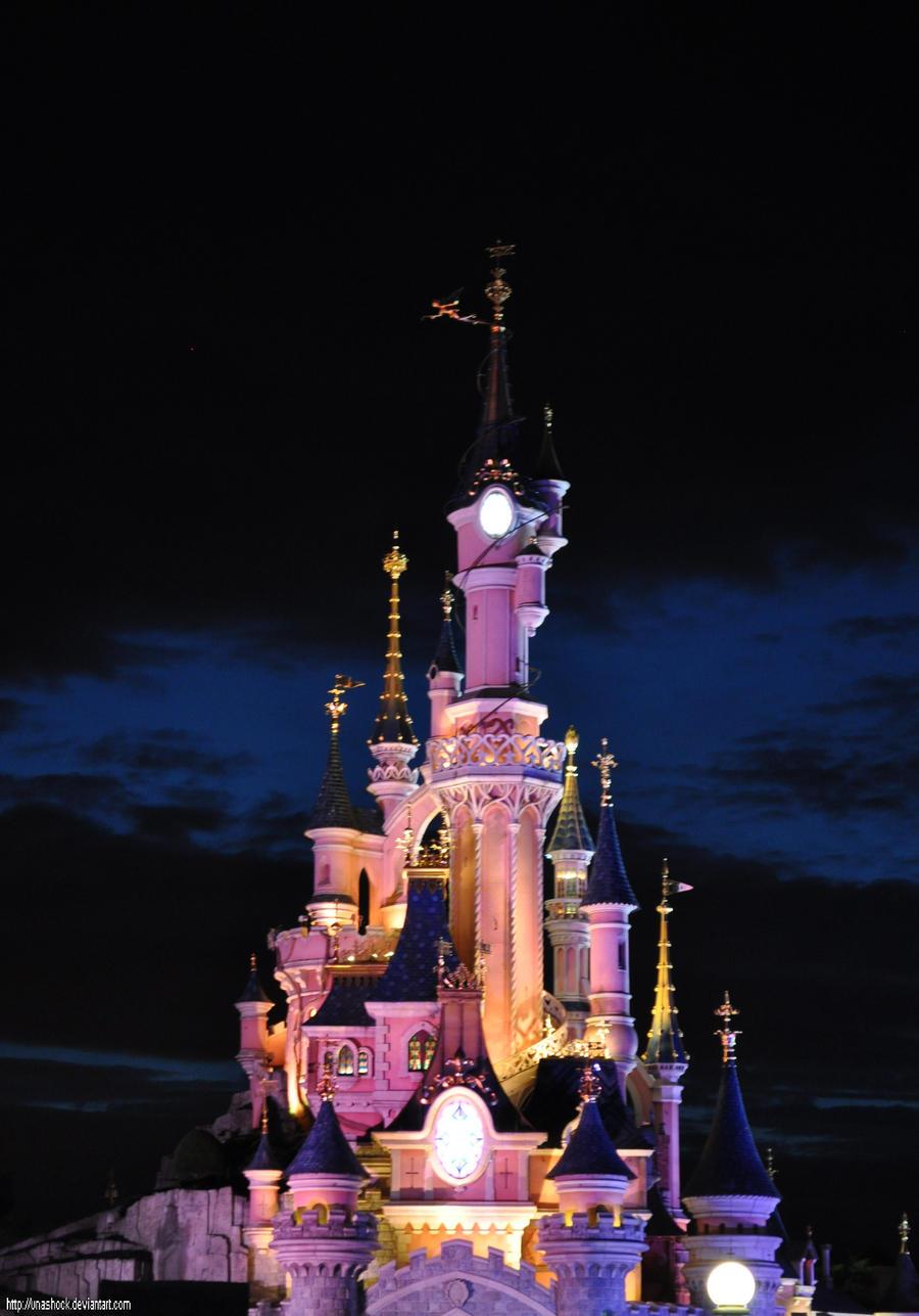 Disneyland Castle At Night Castle - Night by unashock