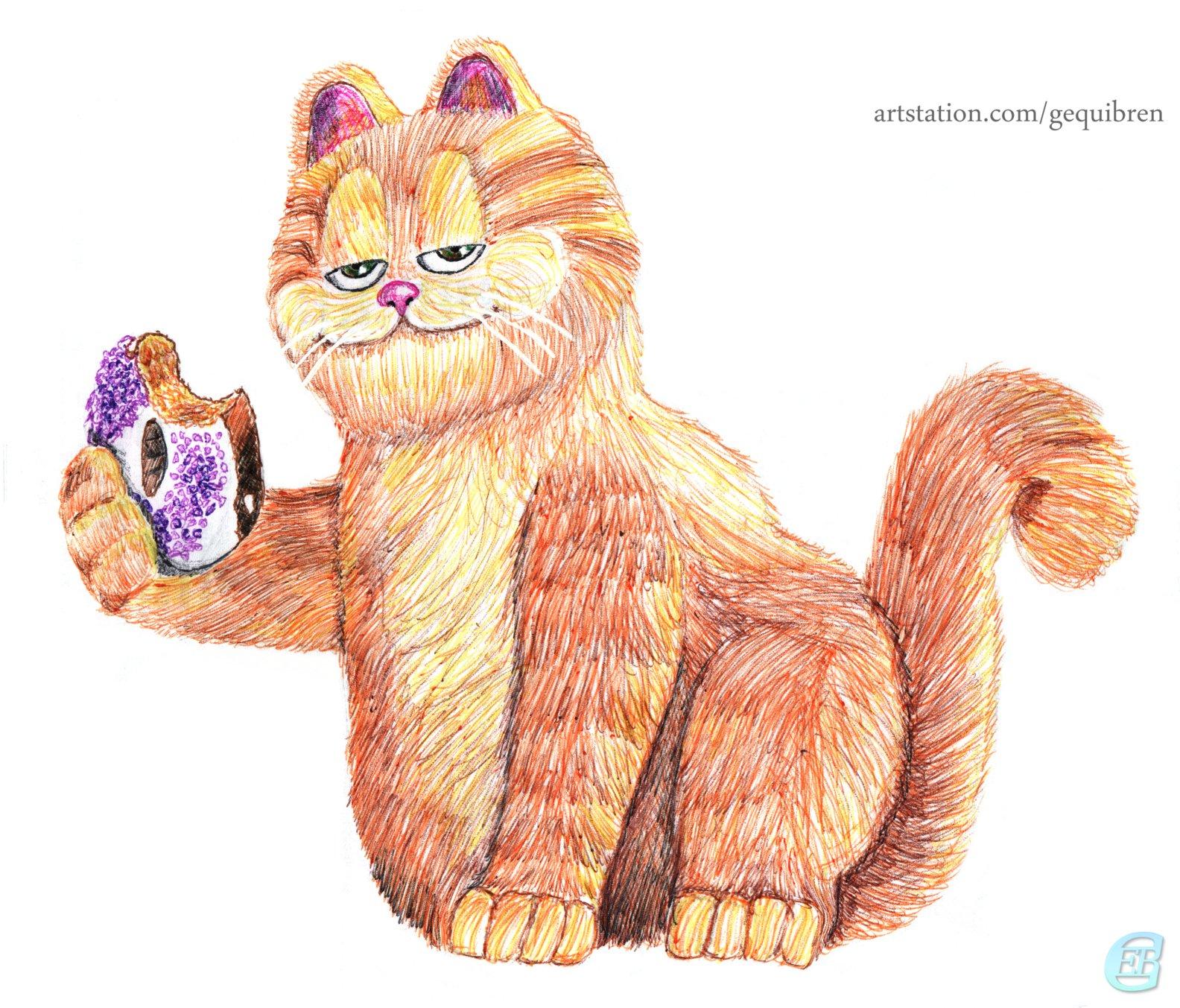 Garfield Cat Sketches By Gequibren On Deviantart