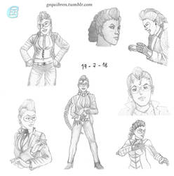Street Fighter - Viper Sketches by Gequibren