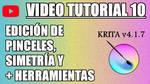Krita Video Tutorial 10 (subt. in 7 languages)