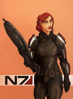 Jane Shepard by Amaltheren