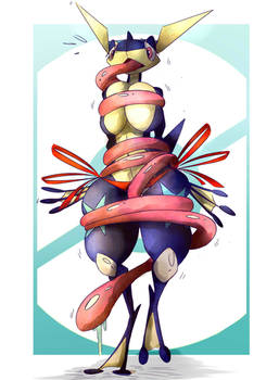 [Artwork] A Tongue Tied Greninja...