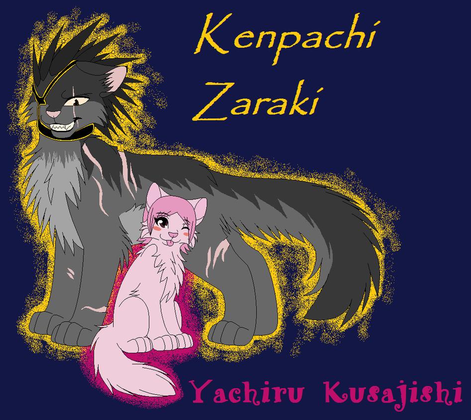 Kitten Yachiru Kusajishi and Cat Kenpachi Zaraki by NighshadeIceheart ...
