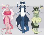 [Guest Artist] Reaper Adoptables [2/3 OPEN] by floofyowl