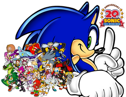 Sonic the Hedgehog: 20th Anniversary Wallpaper by UltimateGameMaster