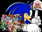 Sonic the Hedgehog: 20th Anniversary Wallpaper
