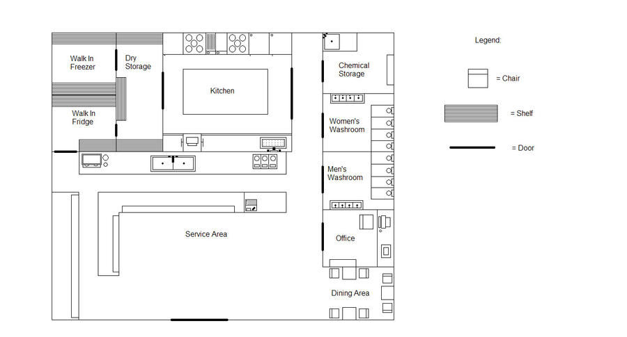Bakery floor plan by exchef123 on deviantart for Laying out a kitchen plan
