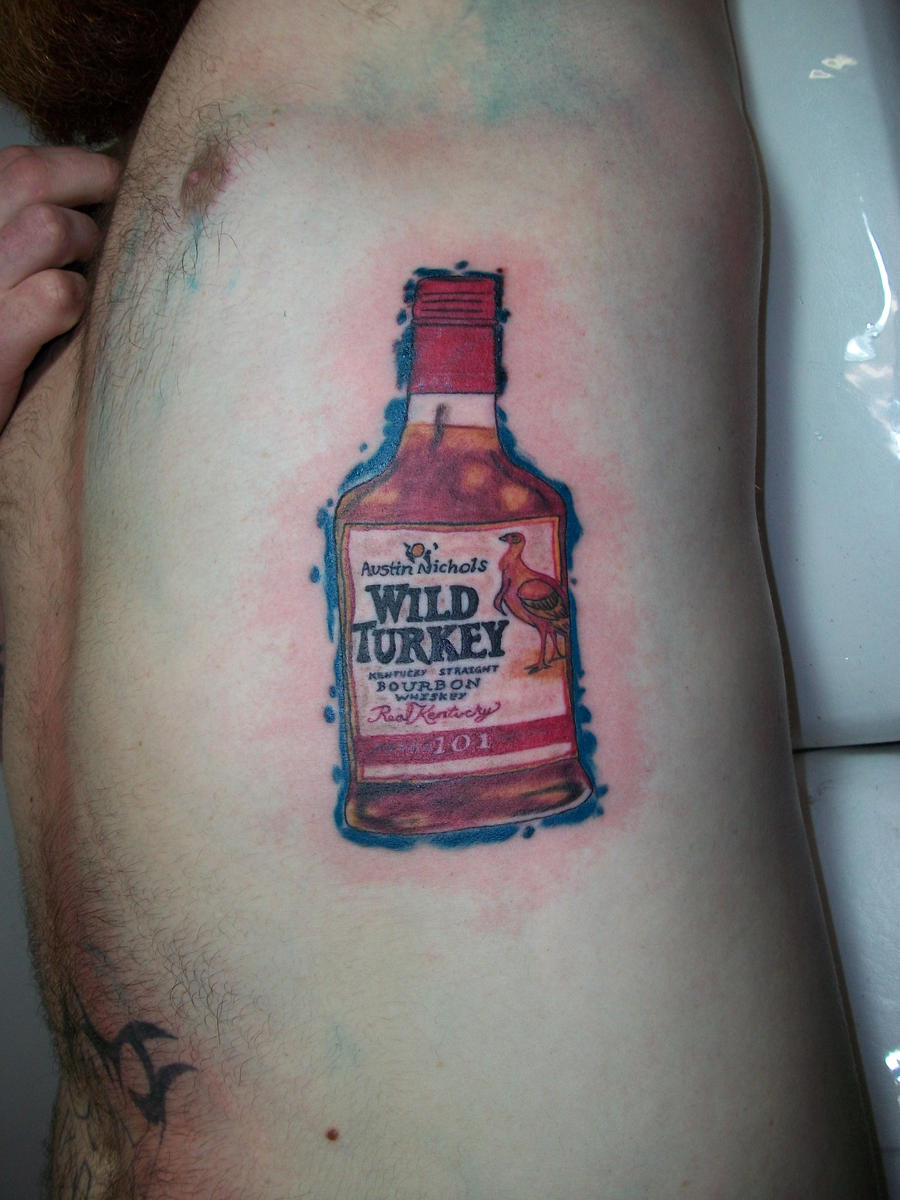 Whiskey bottle tattoo by ArtworkbyMatWard on DeviantArt
