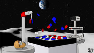Ultimate AI Checkers Space Competition