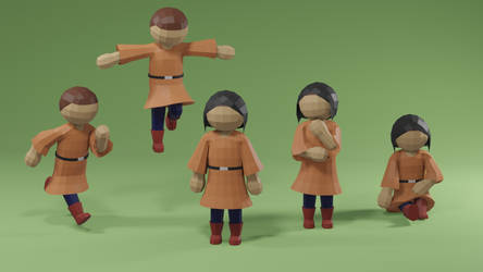 Low Poly Medieval Character