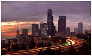 Last Rays Over Seattle