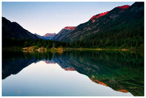 Gold Creek Pond Reflection by Raymaker