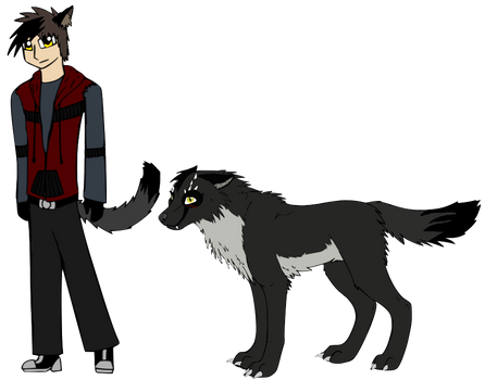 Wolf Brothers oc Max Caynon Both Forms