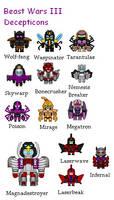 Beast Wars 3 Decepticons
