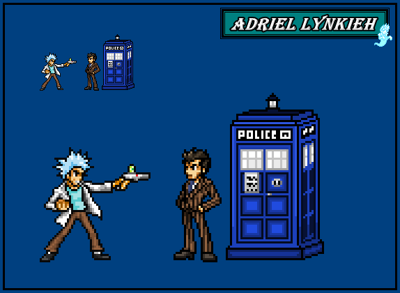 Rick Sanchez (C-137) / The Doctor (10th) by AdrielLynkieh