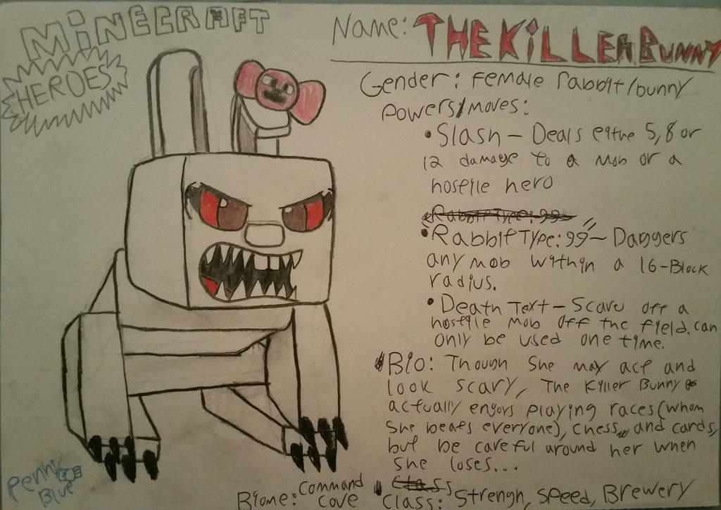 Minecraft Heroes:1/7 Passive Mobs:The Killer Bunny by