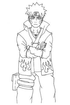 Naruto Sennin Mode Lineart