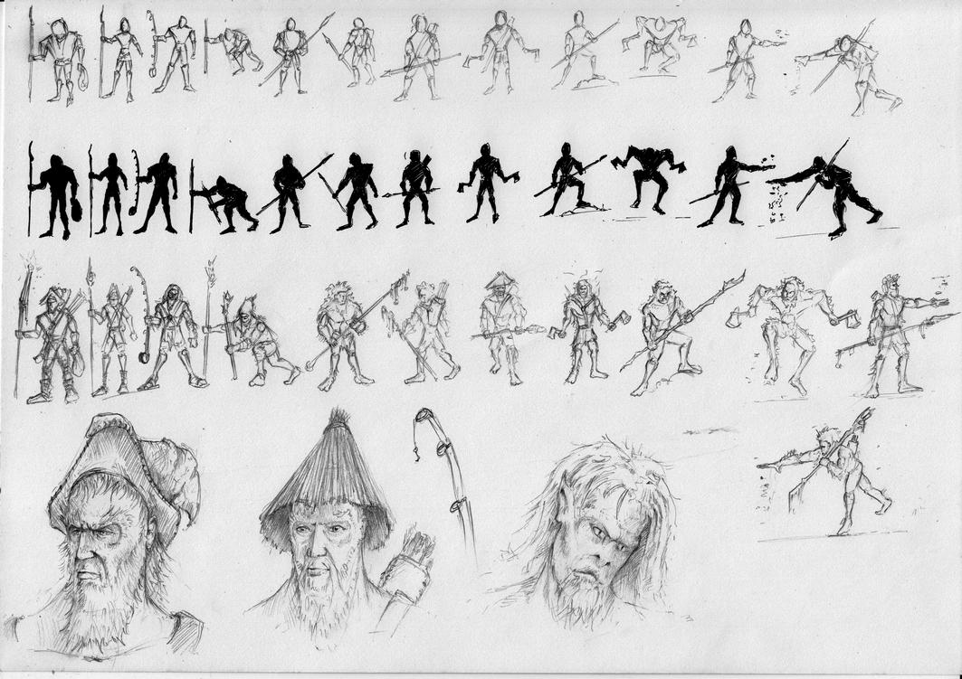 Figure sketches by manorak