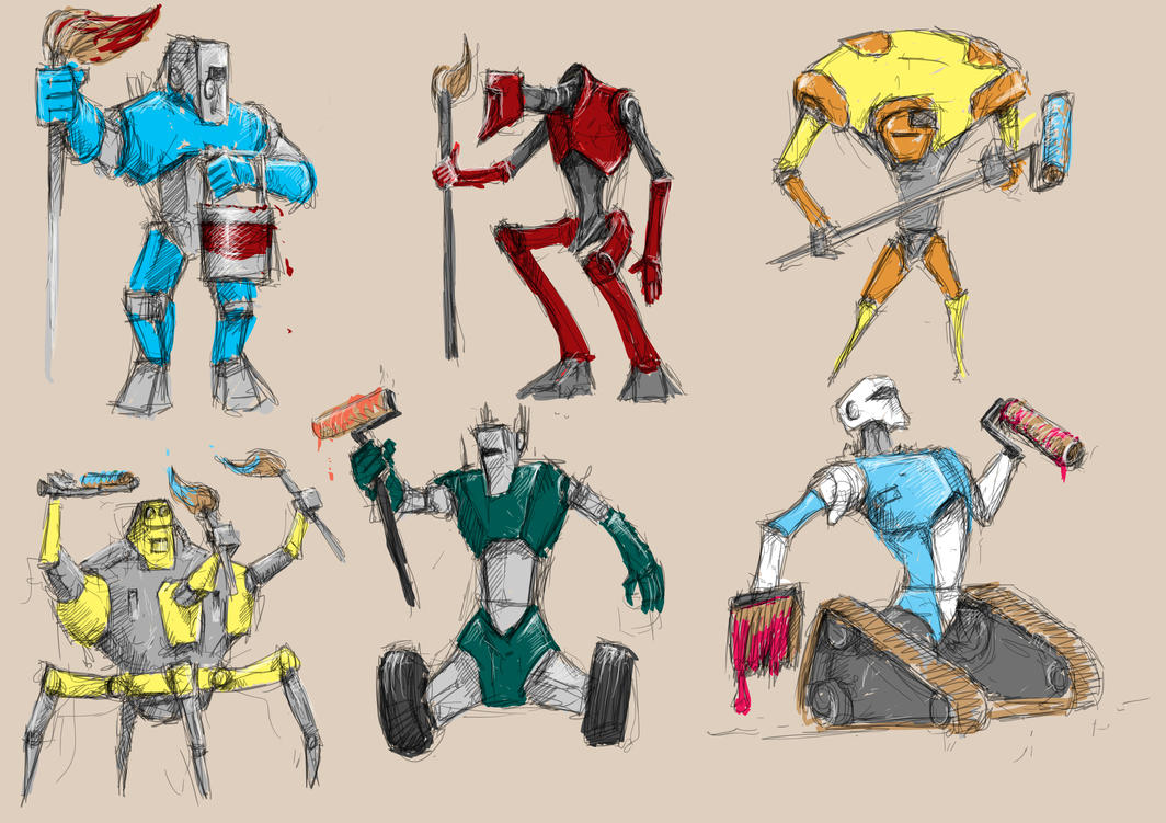 Robot Characters 1 by manorak
