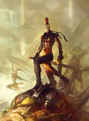 Warhammer 40000 'Harlequin player'