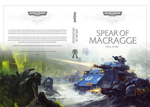 Warhammer40000 'Spear of Macragge' cover artwork