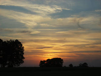 Sunset over Kozlatkow by WormWoodTheStar