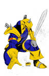 Deathstroke drawing by Rob Liefeld (Colored)