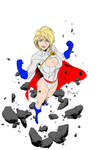 Power Girl by Art Thibert (Colored)