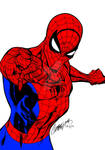 Spiderman Drawing by J. Scott Campbell (Colored)
