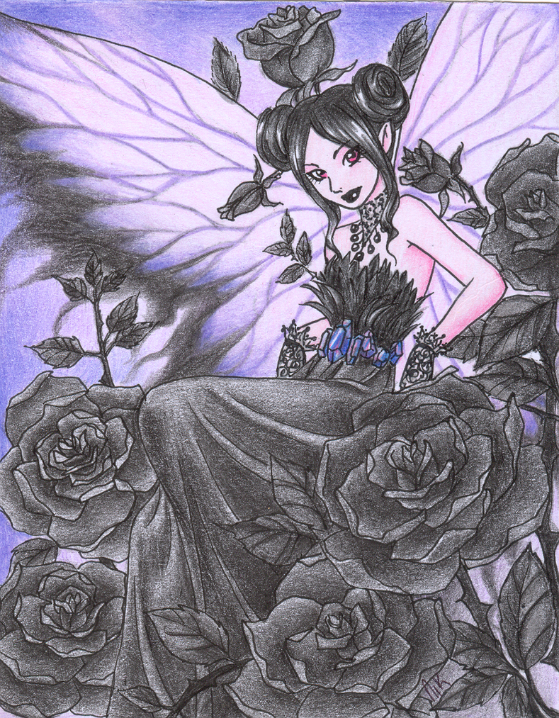 Gothik black fairy by Yo-Illuminator