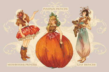 Autumn Princesses - Adoptables (OPEN) by RaRo81