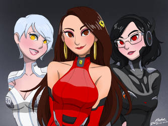 The Hybrid Cargirl Trinity by MusketsGoBoom