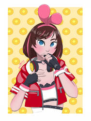 Kizuna Ai's Cheese Okaki Outfit by MusketsGoBoom