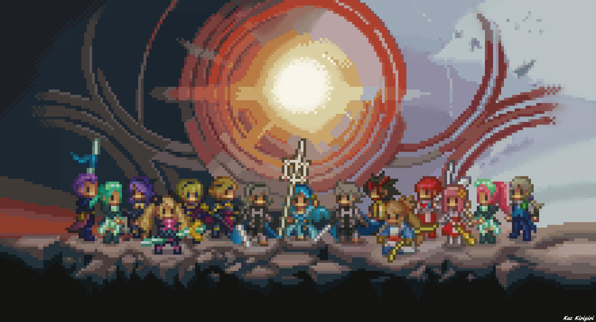 Fire Emblem Fates Pixel Art Wallpaper by Kaz-Kirigiri
