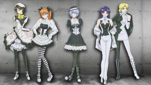 Neon Genesis Evangelion - Formal Women Wallpaper by Kaz-Kirigiri