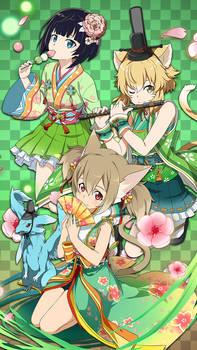Hinamatsuri Banner Mobile Wallpaper - SAO MD