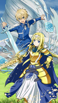 Alicization Banner Mobile Wallpaper - SAO MD