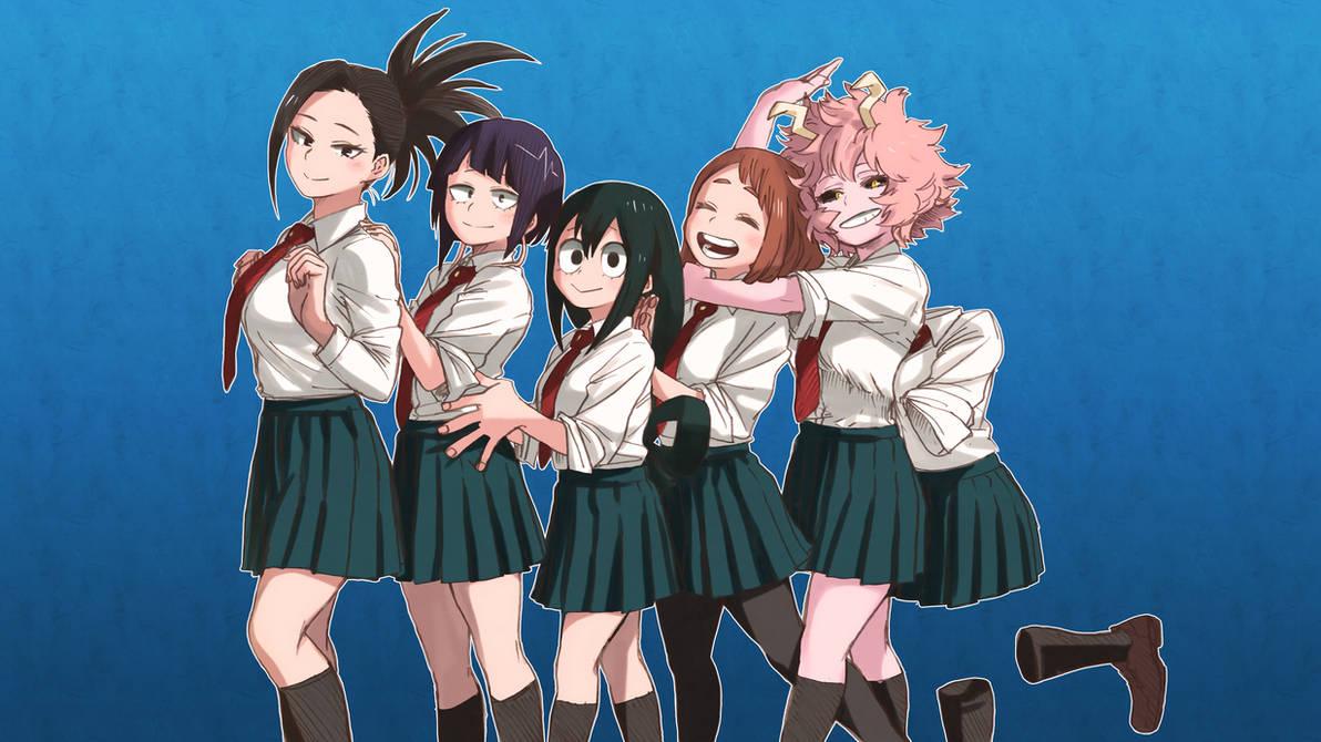 My Hero Academia Schoolgirls Mha Wallpaper By Kaz Kirigiri