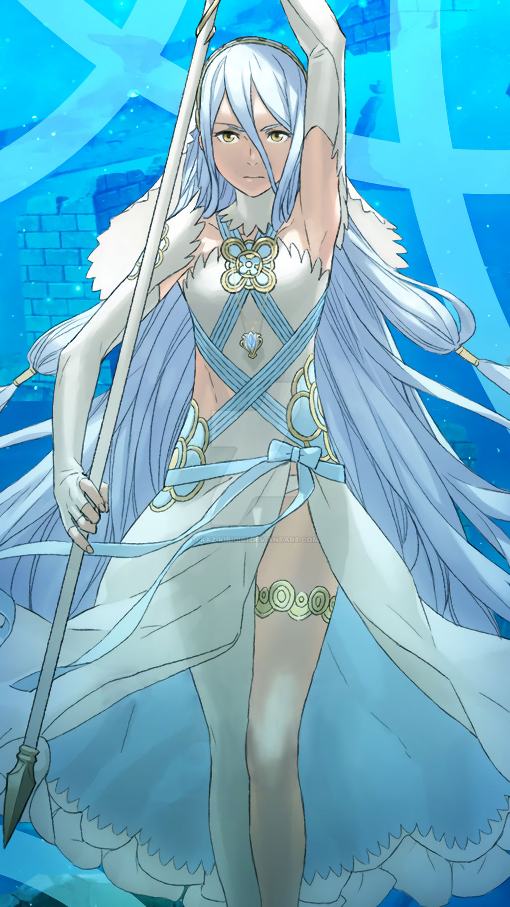 Fe Heroes October Wallpaper Azura By Kaz Kirigiri On Deviantart