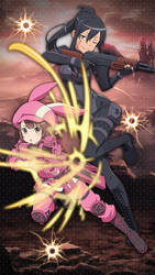 Gun Gale Online Alternative Mobile Wallpaper - SAO by Kaz-Kirigiri