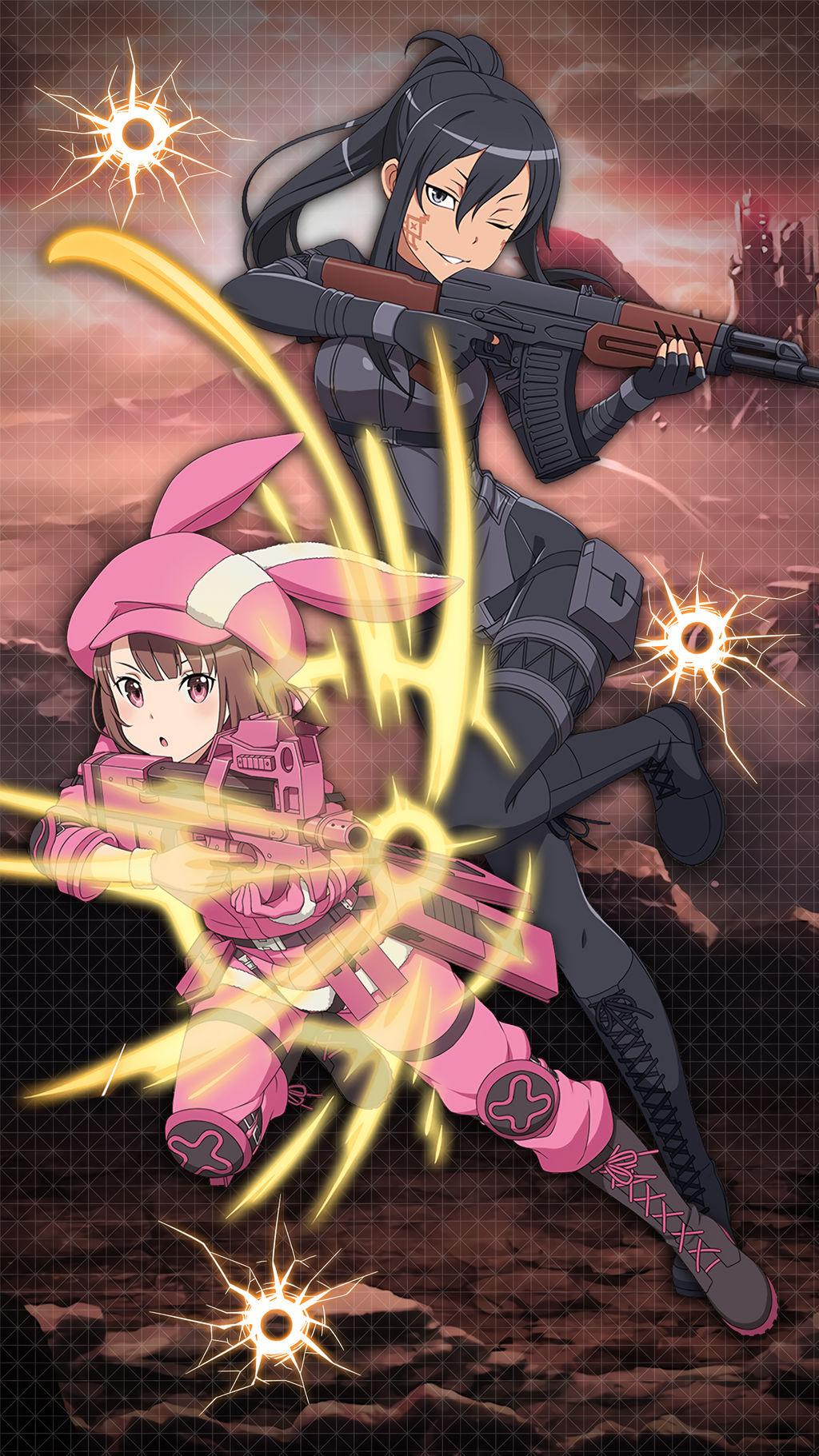 Gun Gale Online Alternative Mobile Wallpaper Sao By Kaz Kirigiri