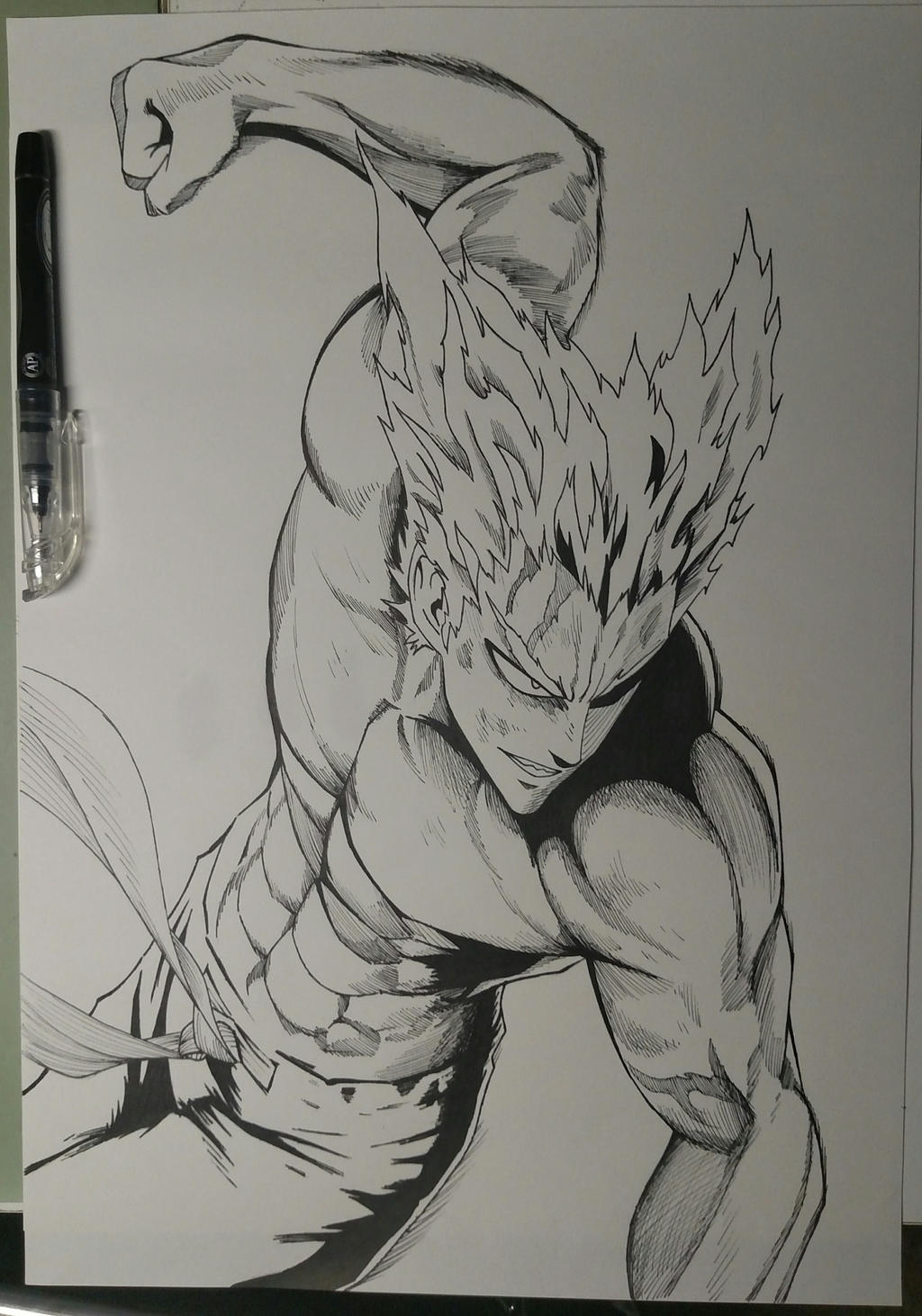 Hero Hunter One Punch Man Ink Drawing By Kaz Kirigiri On Deviantart